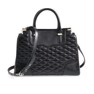 Rebecca Minkoff Quilted Amorous Satchel Black